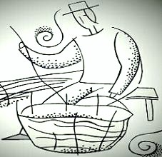 A Weaver's Wander. Logo